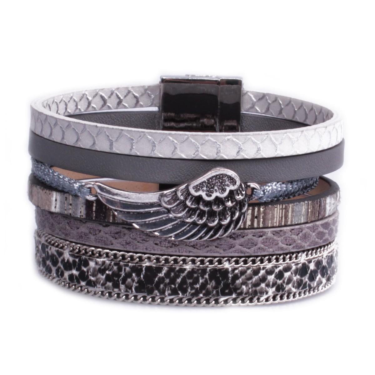 bracelet fantaisie femme manchette aimant strass. Black Bedroom Furniture Sets. Home Design Ideas