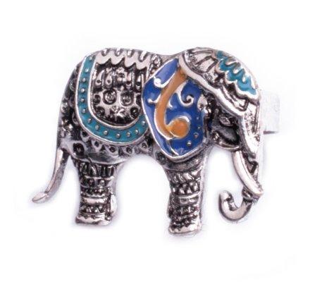 Bague Lolilota Elephant argent bleue turquoise femme