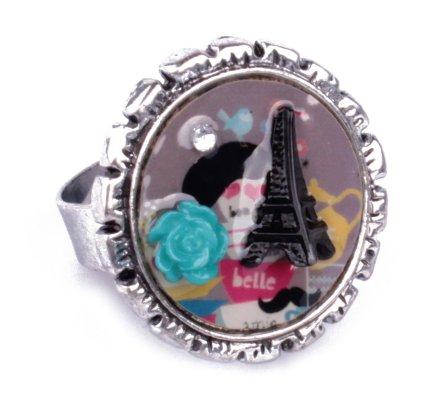 Bague LOL Love Paris fleur turquoise
