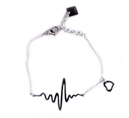 Bracelet Lolilota fantaisie acier argent ligne de vie