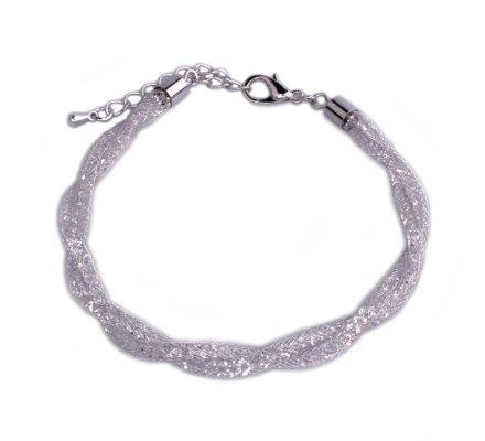 Bracelet Lolilota Tresse argent de strass