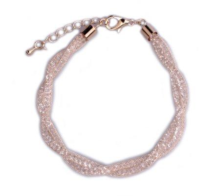 Bracelet Lolilota Tresse dorée de strass