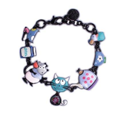 Bracelet Lolilota Chat bleu et son goûter