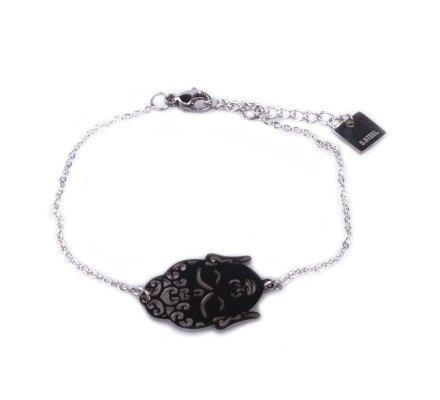 Bracelet acier MILE MILA Bouddha argent
