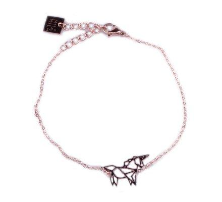 Bracelet acier MILE MILA licorne cuivré