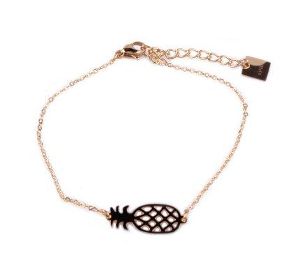 Bracelet acier MILE MILA petit ananas doré
