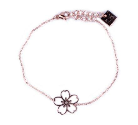 Bracelet MILE MILA acier cuivré fleur des iles