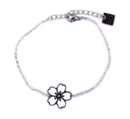 Bracelet MILE MILA acier argent fleur des iles