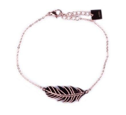 Bracelet MILE MILA acier cuivré plume fantaisie