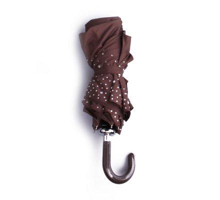 Parapluie marron ciel de strass