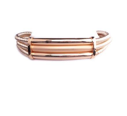 Collier Lolilota ras de cou doré tubes métal