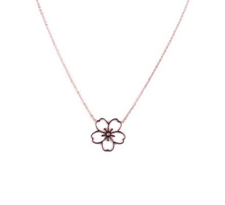 Collier MILE MILA acier cuivré fleur des iles