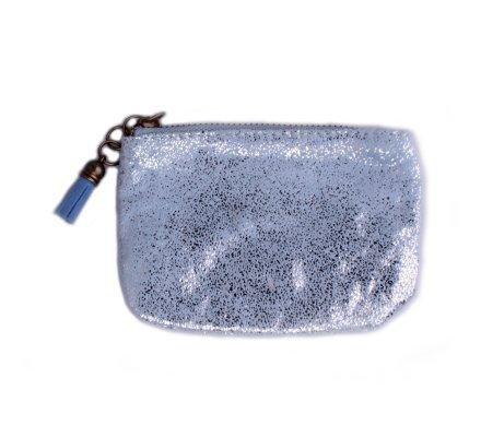 Porte-monnaie bleu ciel pailleté Festis