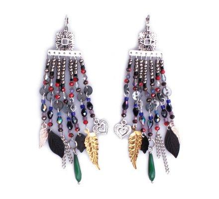 Boucles d'oreilles Lolilota multicolores Cascade de perles