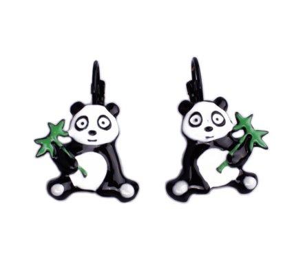 Boucles d'oreilles Lolilota Panda et son bambou