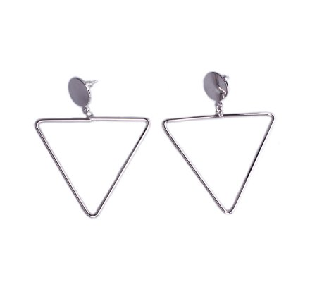 Boucles d'oreilles Lolilota Anneaux triangulaires argent