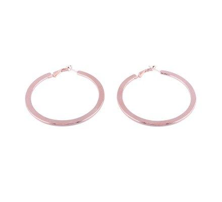 Boucles d'oreilles anneaux cuivrés platis