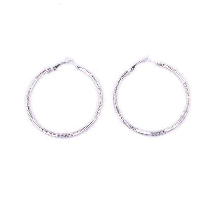 Boucles d'oreilles anneaux argent cimino