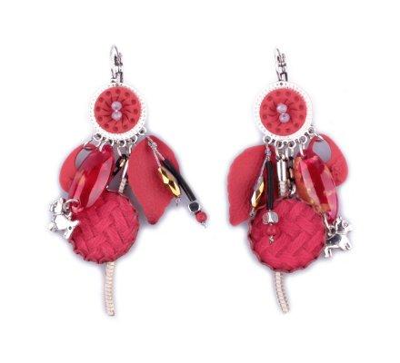 Boucles d'oreilles LOL rouges Abstrato