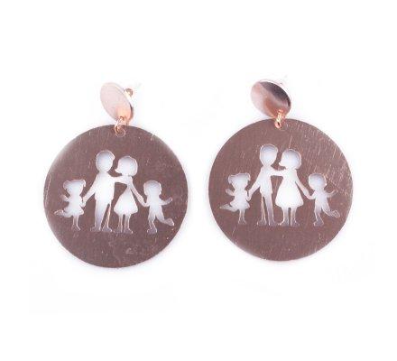 Boucles d'oreilles créoles famille cuivrées