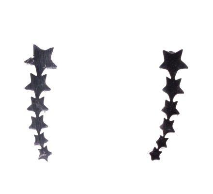 Boucles d'oreilles MILE MILA acier argent étoiles filantes
