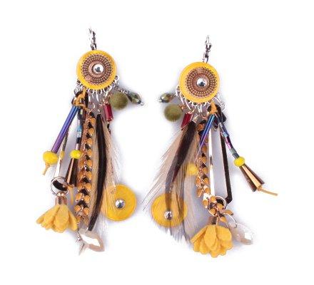 Boucles d'oreilles LOL jaunes Laurieris