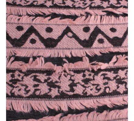 Echarpe épaisse Pyramitis rose et noire