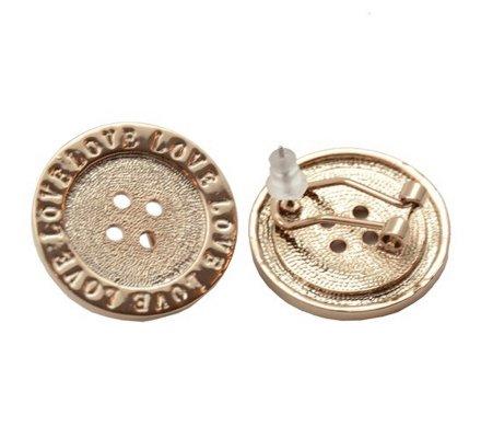 Boucles d'oreilles Lolilota boutons love dorés