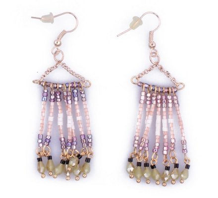 Boucles d'oreilles Lolilota Ridalis perles multicolores