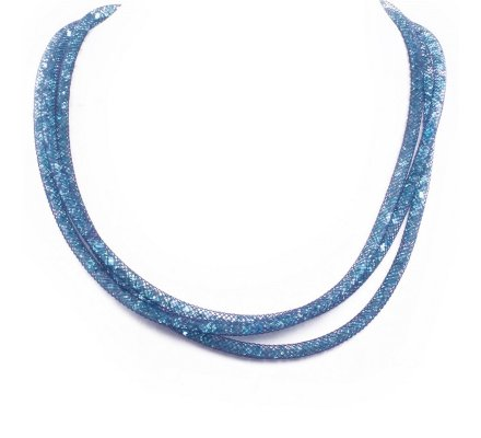 Collier Lolilota Cristalis trois rangs bleu turquoise