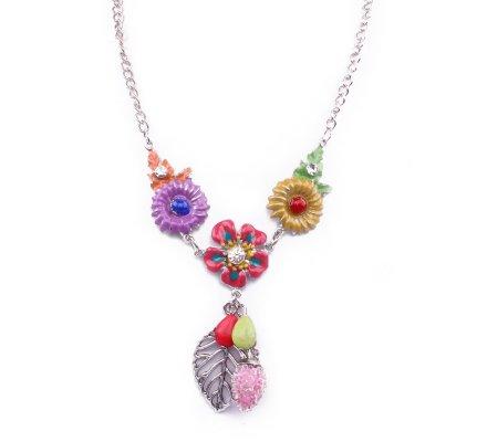 Collier Lolilota Fleurs à fruits multicolore