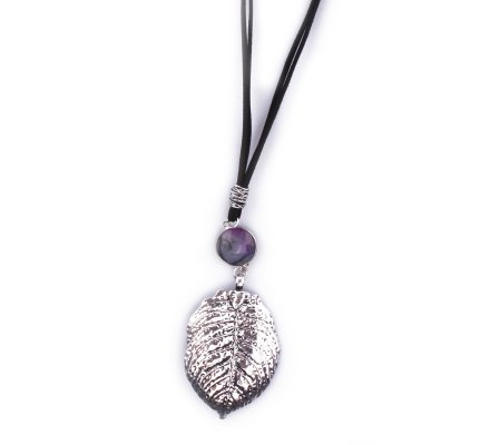 Collier Lolilota Plastron Aztèque demi lune argent perle turquoise