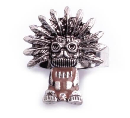 Bague Lolilota ethnique Papou maya argent et marron femme
