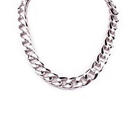 Collier chaîne métal argent