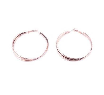 Boucles d'oreilles anneaux cuivrés Vrillis
