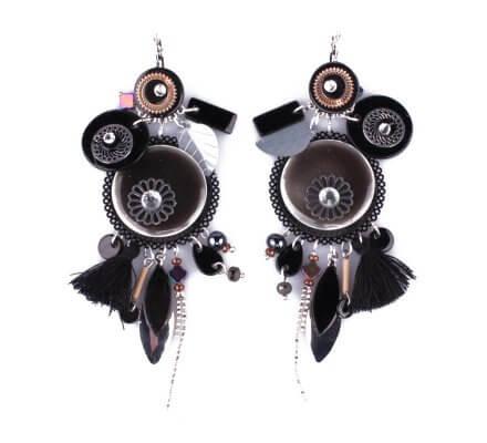 Boucles d'oreilles LOL noires Pastriloli