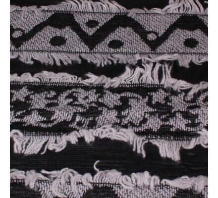 Echarpe épaisse Pyramitis blanche et noire